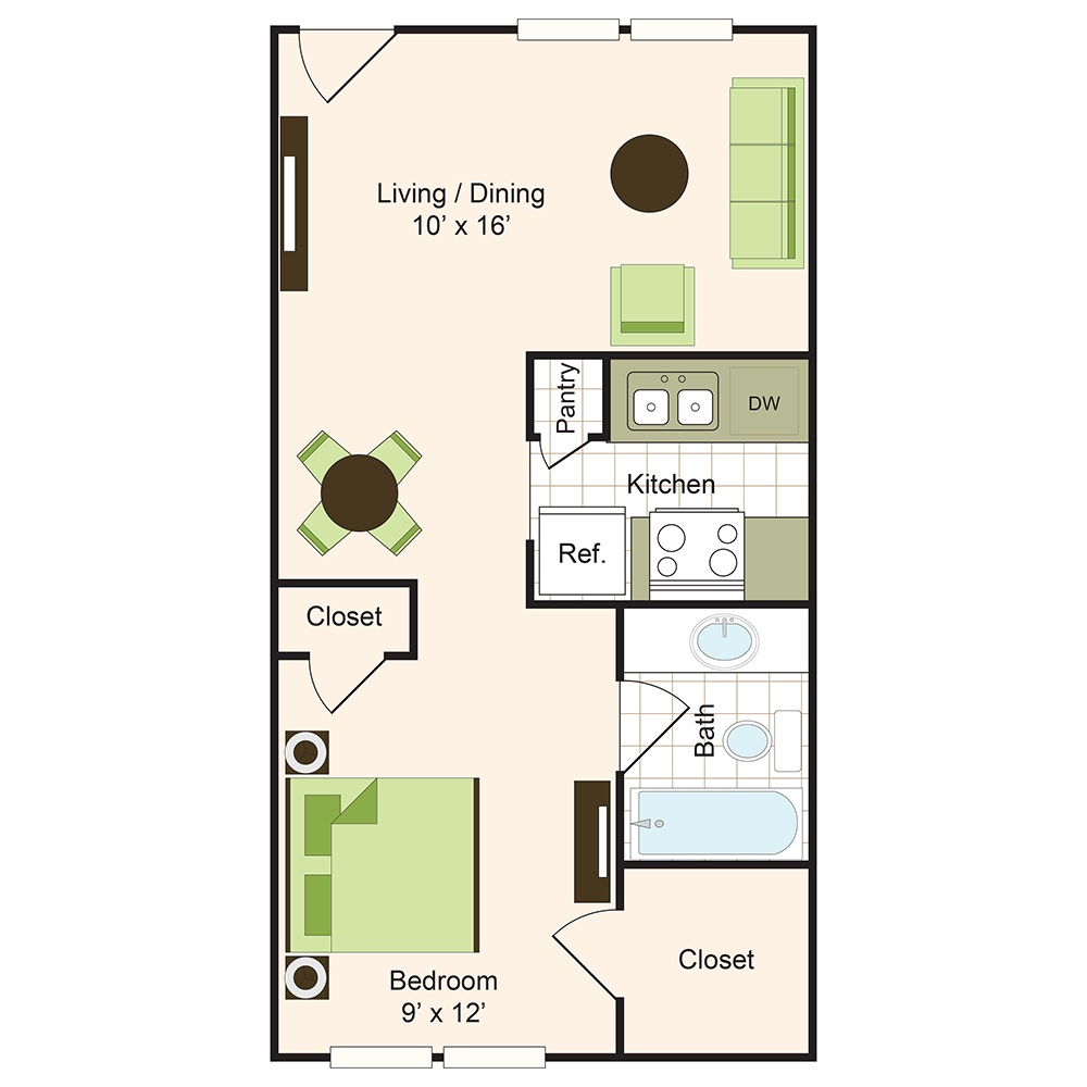 Floor plan 1 | 9900 Memorial Houston Apartments