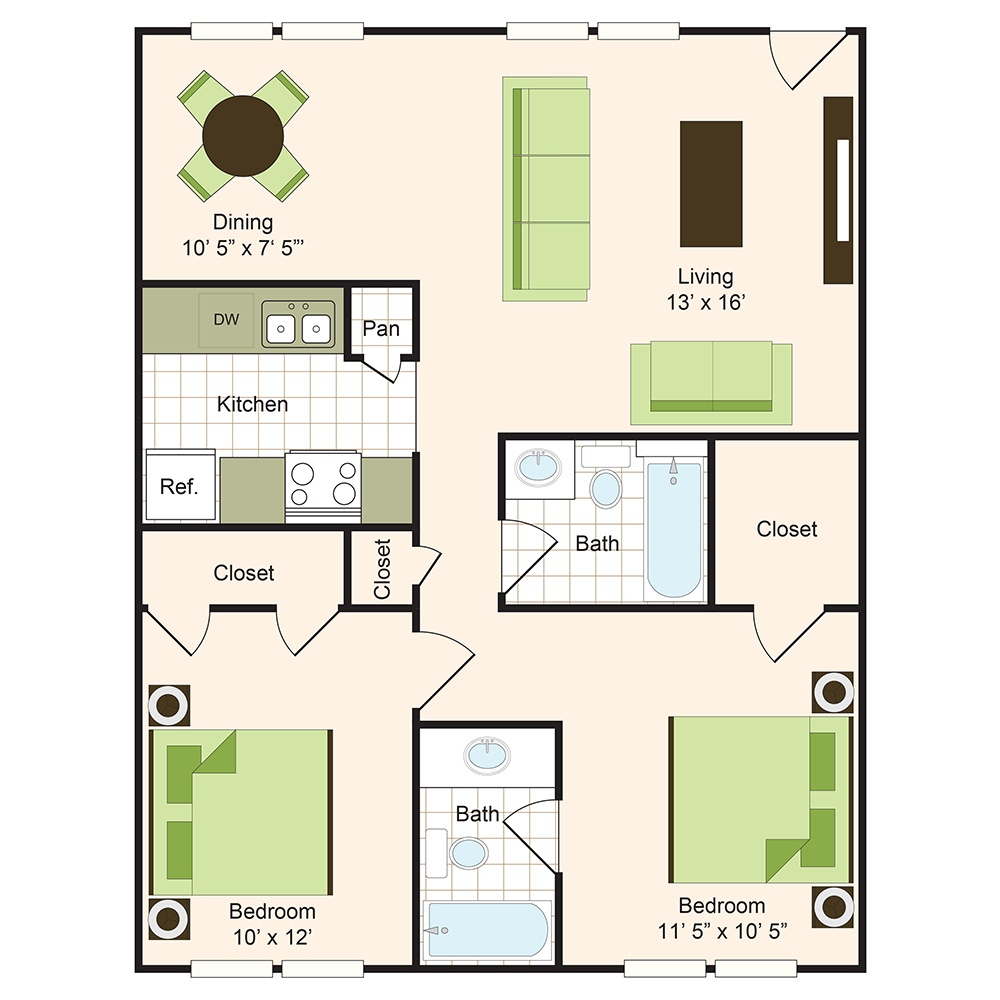 Floor plan 6 | 9900 Memorial Houston Apartments