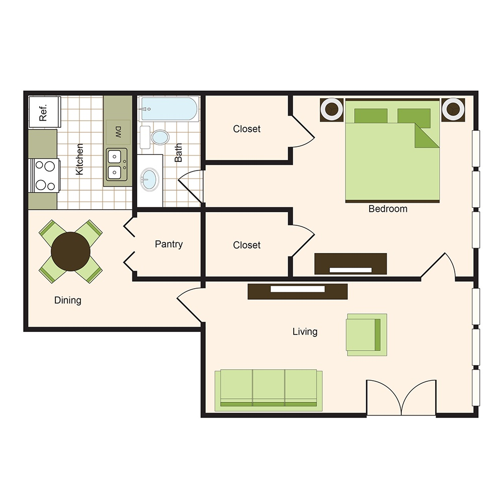 Floor plan 9 | 9900 on Memorial | Houston Apartments