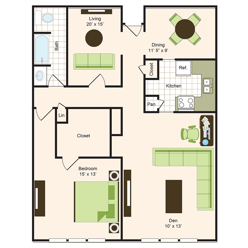 Floor plan 13 | 9900 on Memorial | Apartments Near The Galleria
