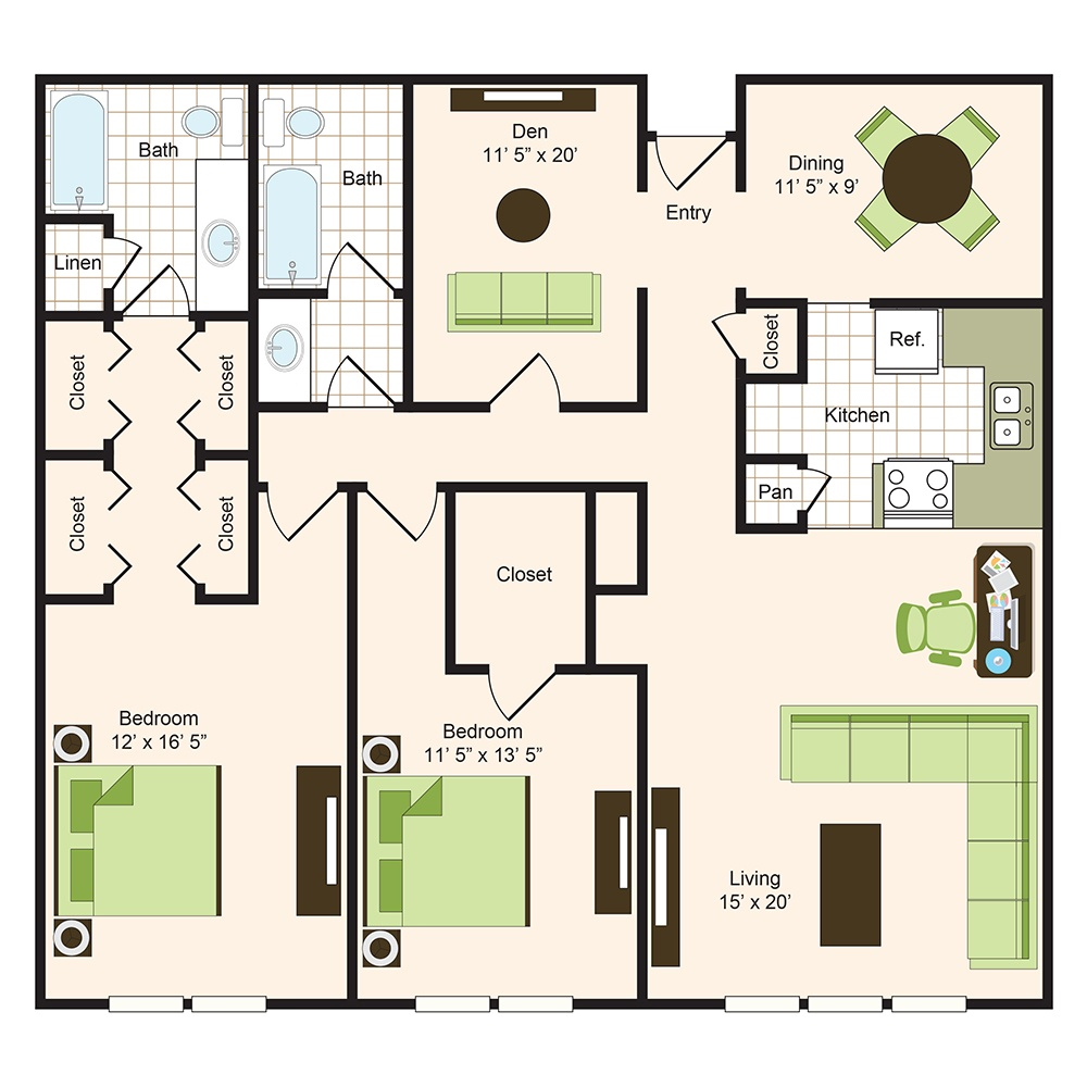 Floor plan 16 | 9900 Memorial Houston Apartments