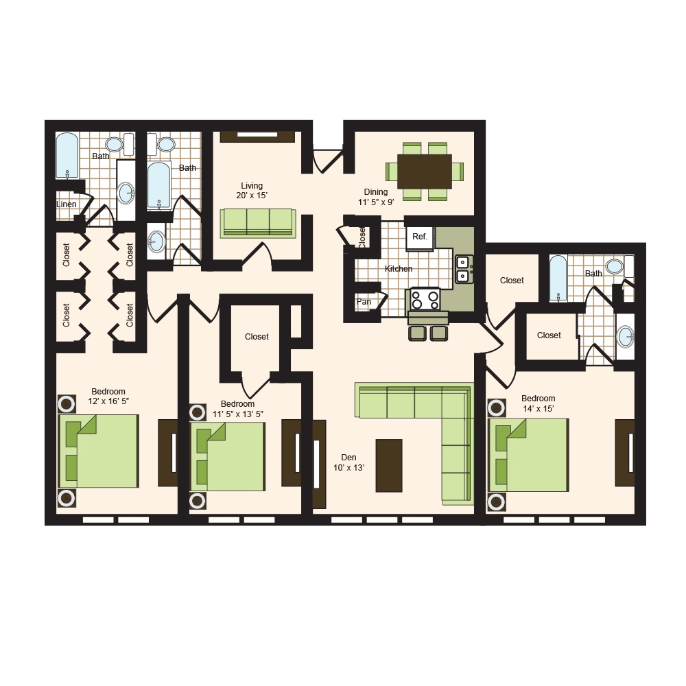 Floor plan 17 | 9900 on Memorial | Apartments Near Spring ISD