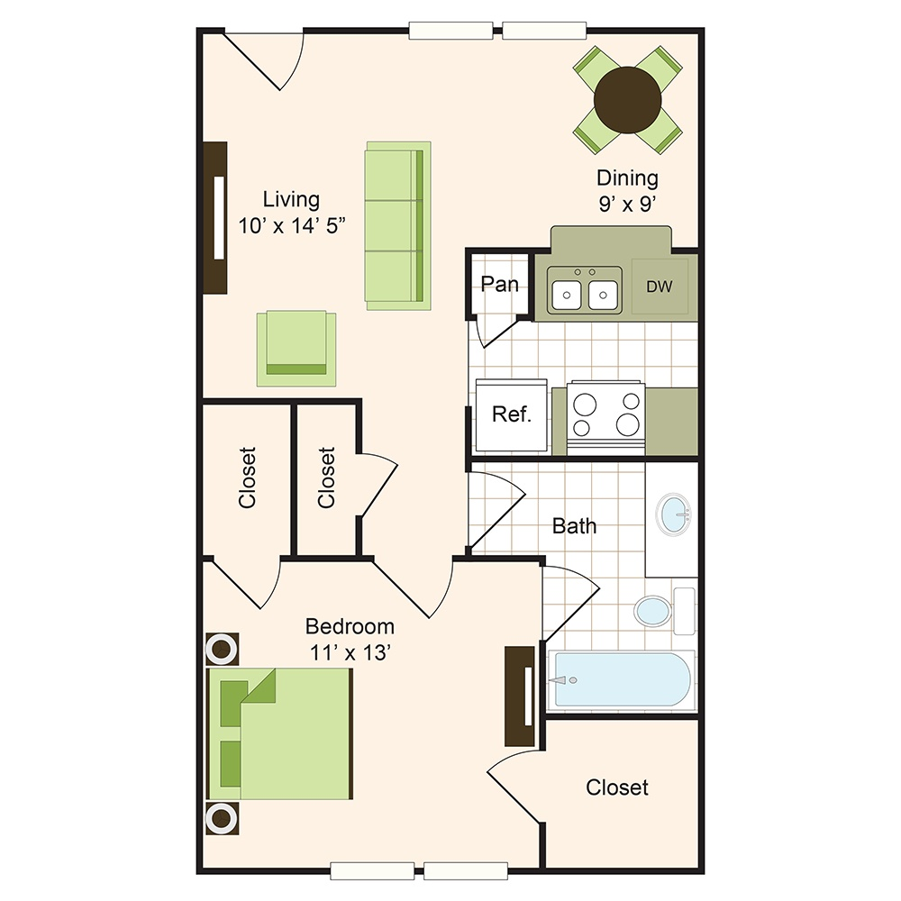 Floor plan 2 | 9900 on Memorial | Apartments Near Spring ISD