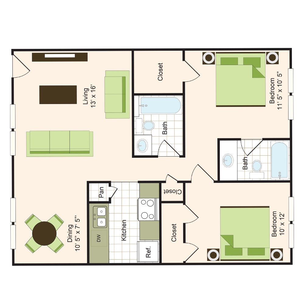 Floor plan 7 | 9900 on Memorial | Apartments Near Spring ISD