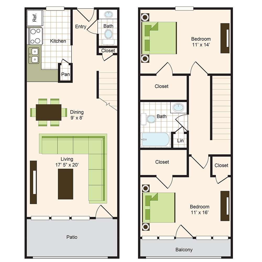 Floor plan 14 | 9900 on Memorial | Houston Apartments