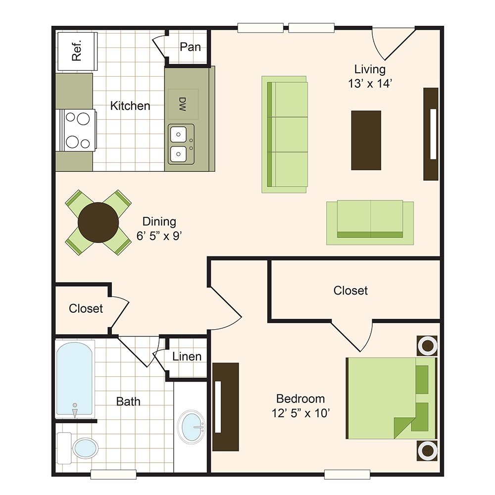 Floor plan 3 | 9900 on Memorial | Apartments Near The Galleria