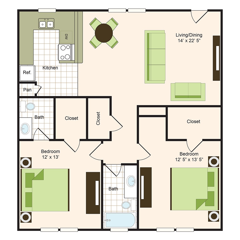 Floor plan 11 | 9900 Memorial Houston Apartments