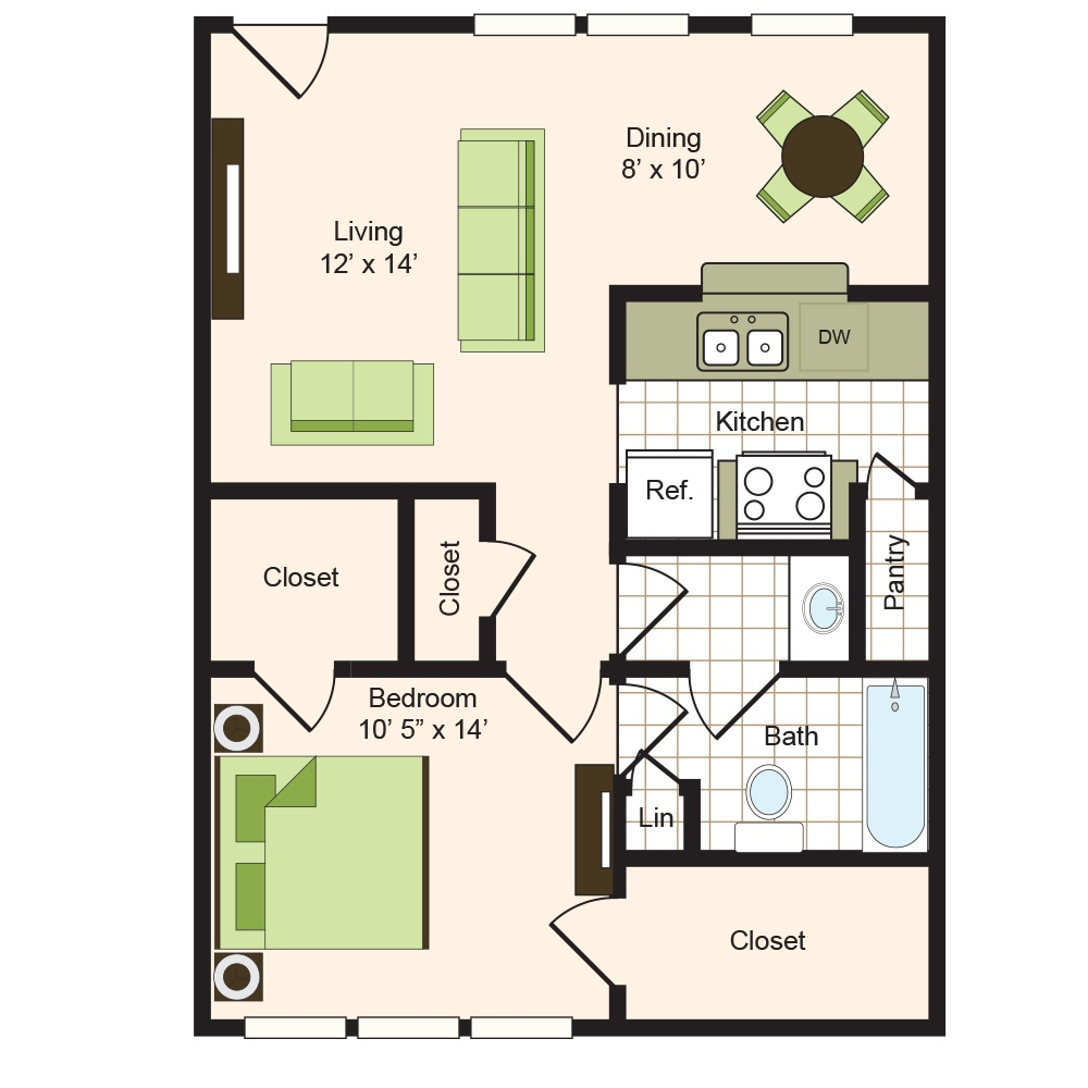 Floor plan 4 | 9900 on Memorial | Houston Apartments