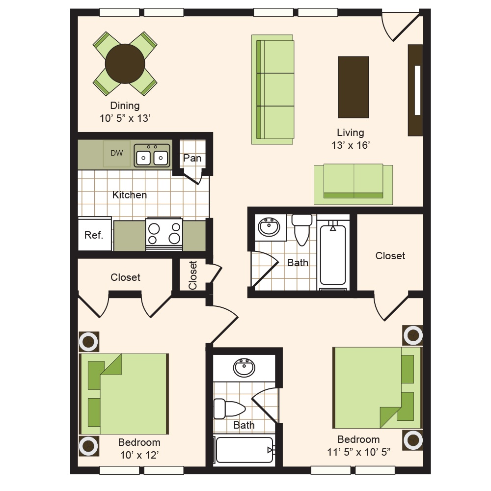 Floor plan 8 | 9900 on Memorial | Apartments Near The Galleria
